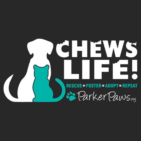 Parker Paws Logo Chews Life - Adult Adjustable Face Mask