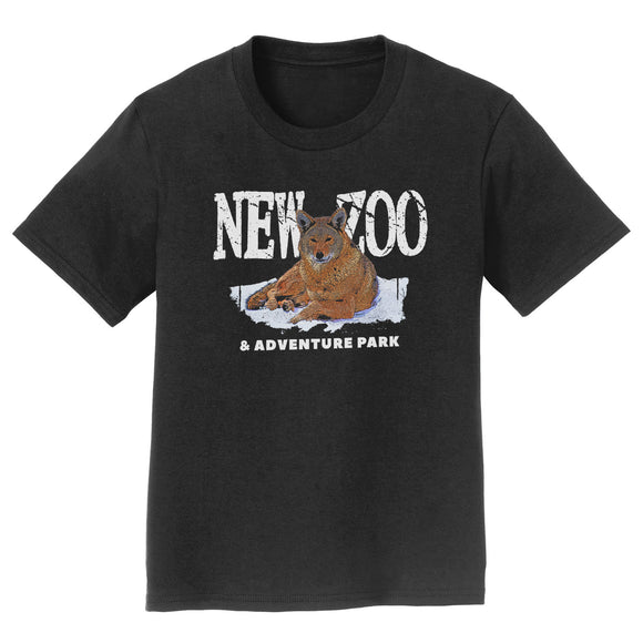 NEW Zoo & Adventure Park - NEW Zoo Red Wolf Art - Kids' Unisex T-Shirt
