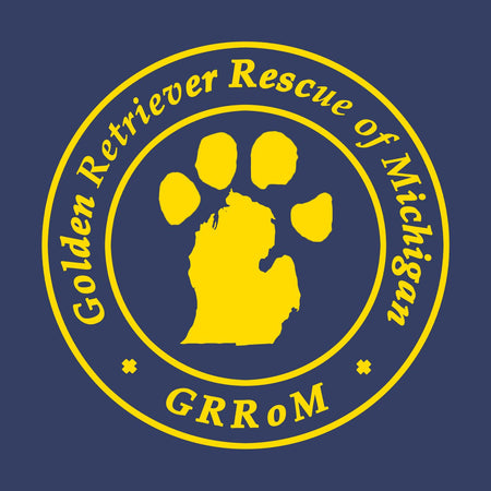Golden Retriever Rescue of Michigan Logo - Left Chest - Adult Unisex Crewneck Sweatshirt