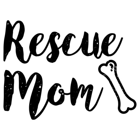 Rescue Mom with Bone - Women's V-Neck T-Shirt