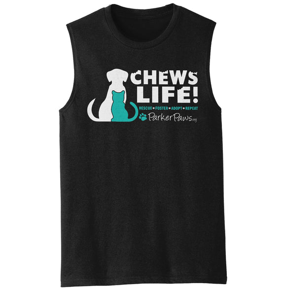 Parker Paws Chews Life - Men's Tank Top