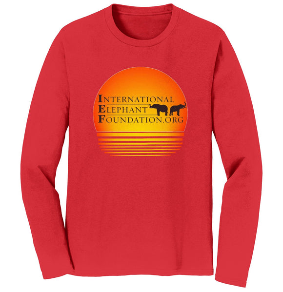 International Elephant Foundation - IEF Sunset Logo - Adult Unisex Long Sleeve T-Shirt