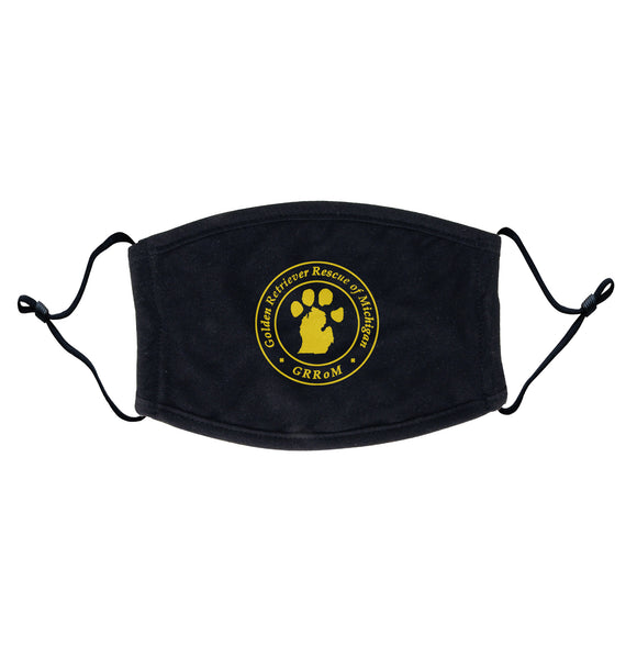 Golden Retriever Rescue of Michigan Logo - Full Front - Adjustable Face Mask