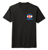 Golden Retriever Freedom Rescue Colorado Flag Logo - Left Chest - Tri-Blend T-Shirt