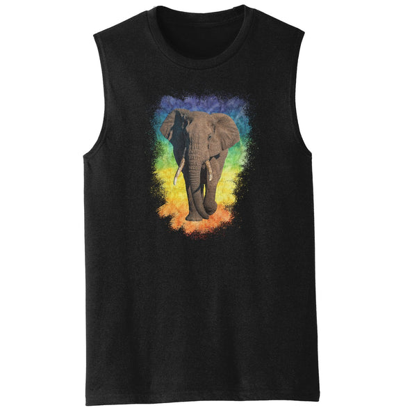 Elephant Rainbow - Men's Tank Top | International Elephant Foundation