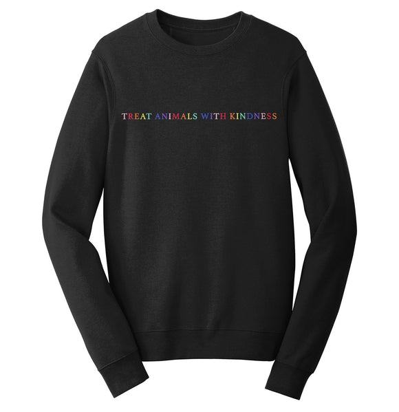 Treat Animals with Kindness - Adult Unisex Crewneck Sweatshirt