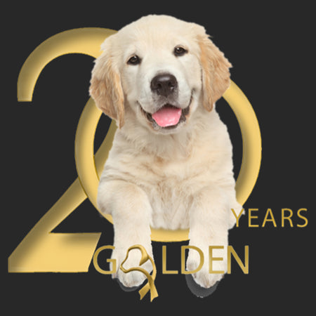 Gold Ribbon Rescue - 20 Years Logo - Adult Adjustable Face Mask