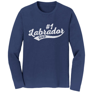 Sport Script - #1 Labrador Dad - Long Sleeve T-Shirt - WCLRR Online Shop