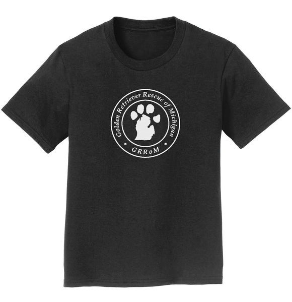 Golden Retriever Rescue of Michigan Logo - Full Front White - Youth T-Shirt