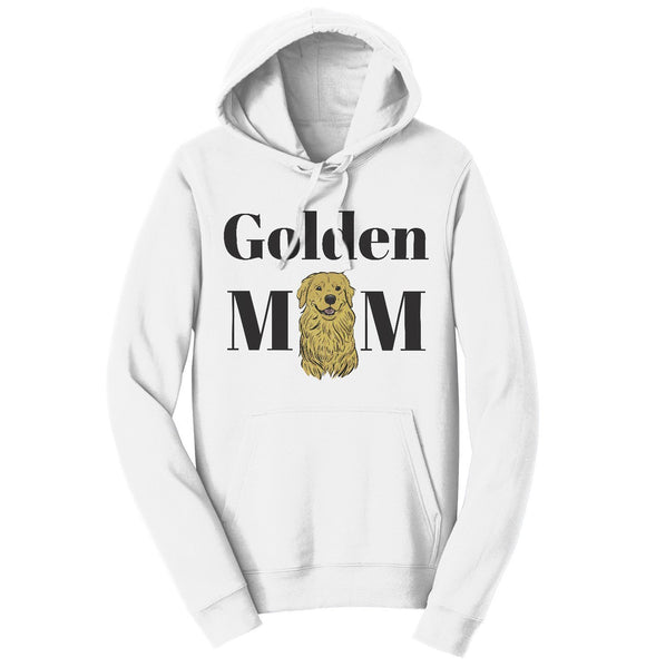 Golden Mom Illustration - Adult Unisex Hoodie Sweatshirt