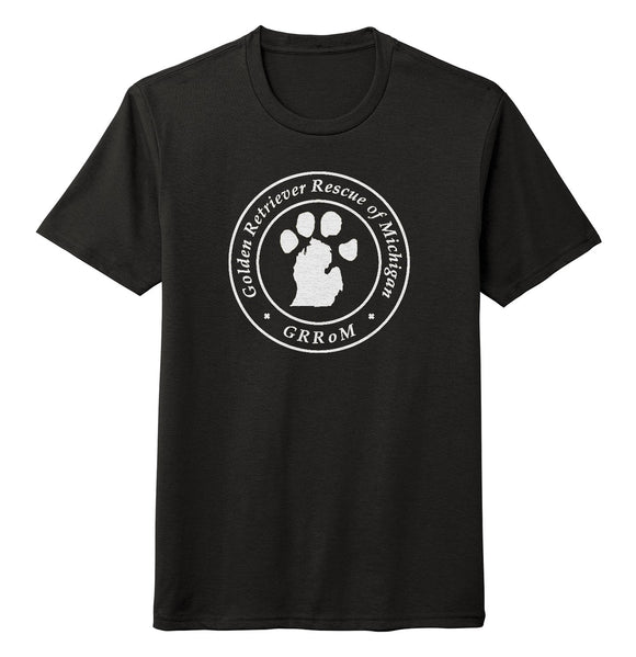 Golden Retriever Rescue of Michigan Logo - Full Front White - Tri-Blend T-Shirt