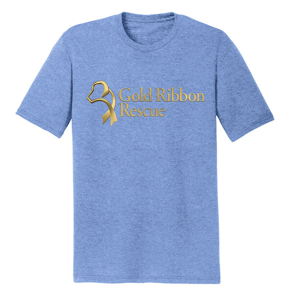 Gold Ribbon Rescue Logo - Tri-Blend T-Shirt
