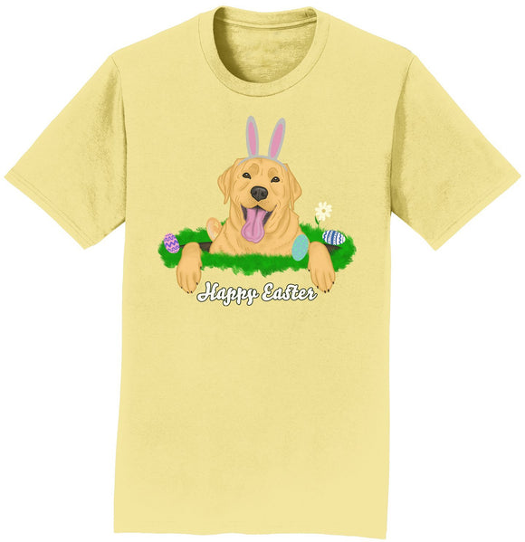 Rabbit Hole Yellow Labrador  - Adult Unisex T-Shirt