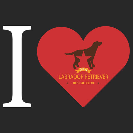 I Heart My DFW Lab Rescue - Adult Tri-Blend T-Shirt