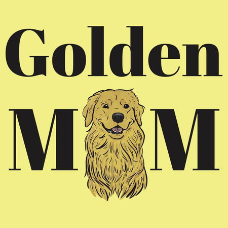 Golden Mom Illustration - Women's Fitted T-Shirt