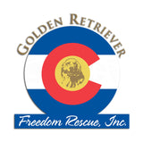 Golden Retriever Freedom Rescue Colorado Flag Logo - Left Chest - Women's Tank Top