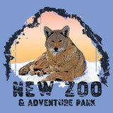 NEW Zoo Logo Red Wolf Sunset - Women's Tri-Blend T-Shirt