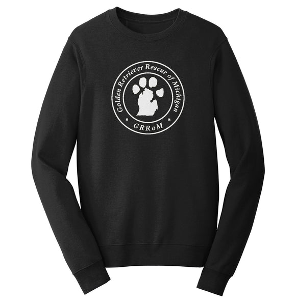 Golden Retriever Rescue of Michigan Logo - Full Front White - Crewneck Sweatshirt