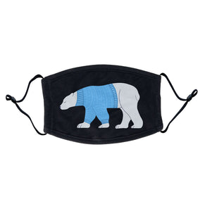 Ugly Sweater Polar Bear - Adult Adjustable Face Mask