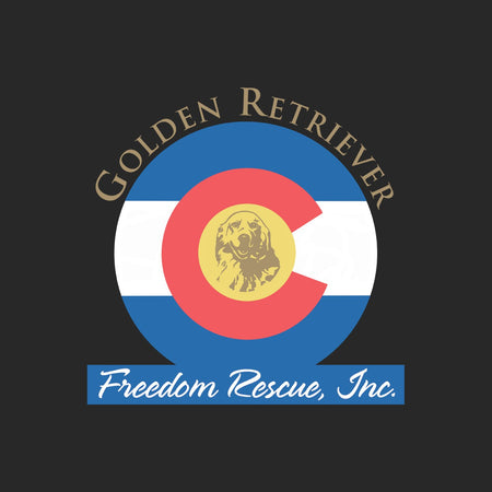 Golden Retriever Freedom Rescue Colorado Flag Logo - Left Chest - Adult Adjustable Face Mask