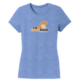 Golden Rescue of South Florida Logo - Women's Tri-Blend T-Shirt