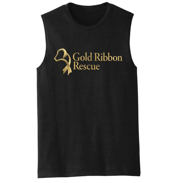 Gold Ribbon Rescue Logo - Men's Tank Top