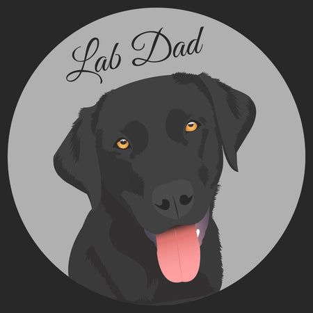 Grey Spot Lab Dad - Adult Unisex T-Shirt