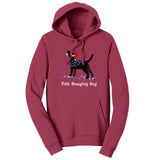 Feliz Naughty Dog Black Lab - Adult Unisex Hoodie Sweatshirt