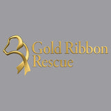 Gold Ribbon Rescue Logo - Adult Unisex Hoodie Sweatshirt