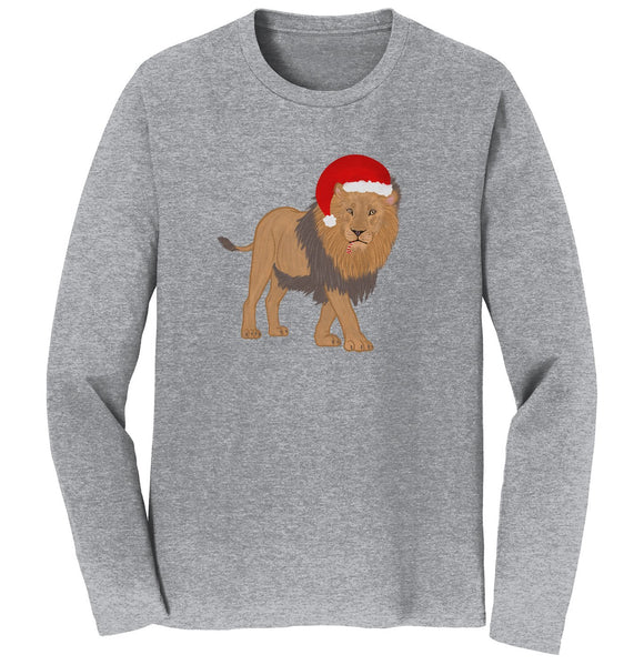 Christmas Lion - Adult Unisex Long Sleeve T-Shirt