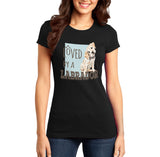 Loved by a Labrador - Women's Fitted T-Shirt
