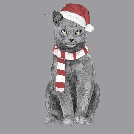 Xmas Cat - Adult Unisex T-Shirt