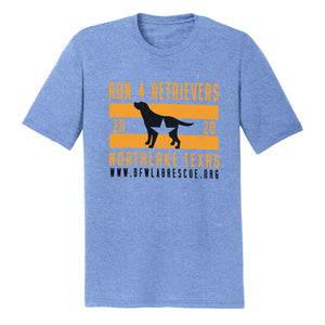 DFW Lab Rescue Run 4 Retrievers 2020 - Adult Tri-Blend T-Shirt