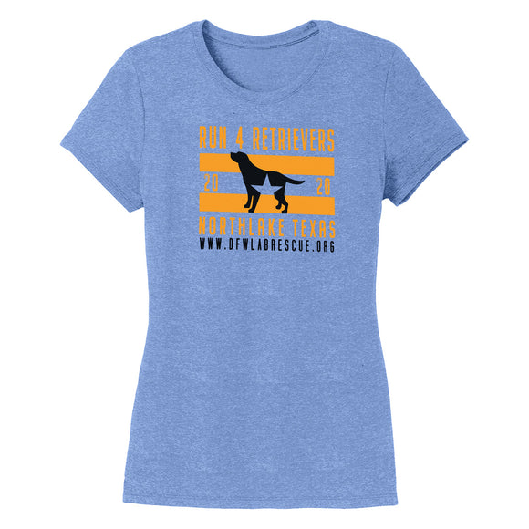 DFW Lab Rescue Run 4 Retrievers 2020 - Women's Tri-Blend T-Shirt