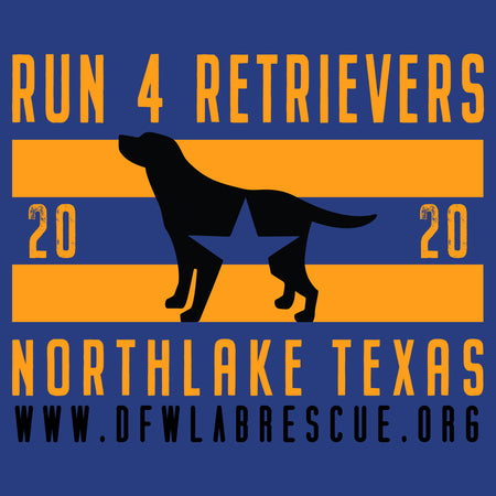 DFW Lab Rescue Run 4 Retrievers 2020 - Women's Fitted T-Shirt