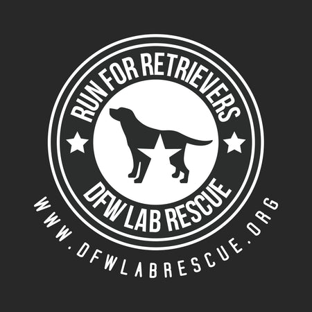 DFW Lab Rescue Run For Retrievers Left Chest - Adult Unisex Long Sleeve T-Shirt