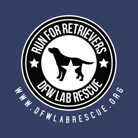 DFW Lab Rescue Run For Retrievers Left Chest - Adult Unisex Full-Zip Hoodie Sweatshirt