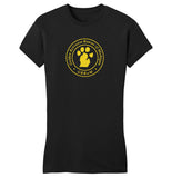 Golden Retriever Rescue of Michigan Logo - Full Front - Women's Fitted T-Shirt