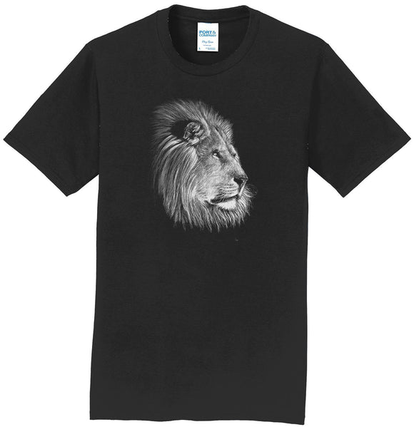 Lion on Black - Adult Unisex T-Shirt