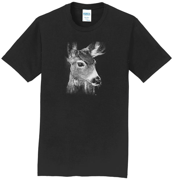 Mule Doe on Black - Adult Unisex T-Shirt
