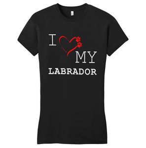 WCLRR - I Love My Labrador - Women's Fitted T-Shirt