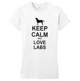 Keep Calm And Love Labs - Women's Fitted T-Shirt