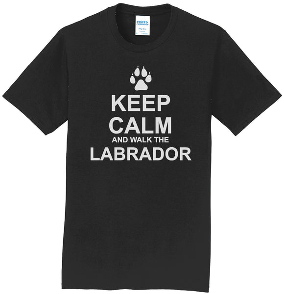 WCLRR - Keep Calm And Walk The Labrador - Adult Unisex T-Shirt