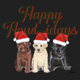 Happy Howlidays - Women's V-Neck Long Sleeve T-Shirt