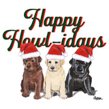 Happy Howlidays - Women's Fitted T-Shirt