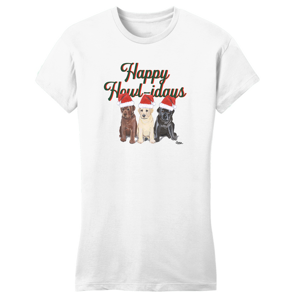 WCLRR - Happy Howlidays - Women's Fitted T-Shirt