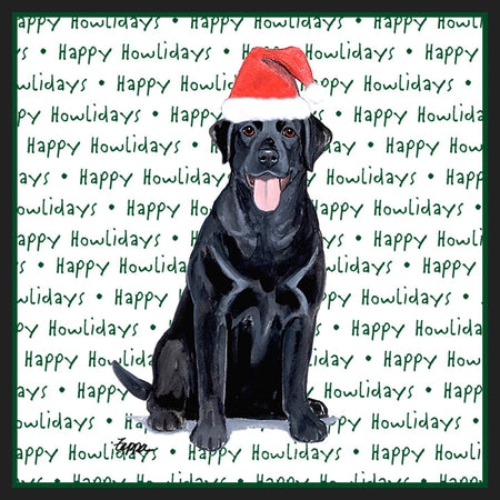 Black Lab Howlidays - Women's V-Neck Long Sleeve T-Shirt