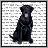 Black Lab Love Text - Kids' Unisex Hoodie Sweatshirt