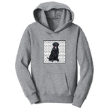 WCLRR - Black Lab Love Text - Kids' Unisex Hoodie Sweatshirt