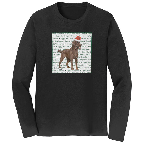 WCLRR - Chocolate Lab Howlidays - Adult Unisex Long Sleeve T-Shirt